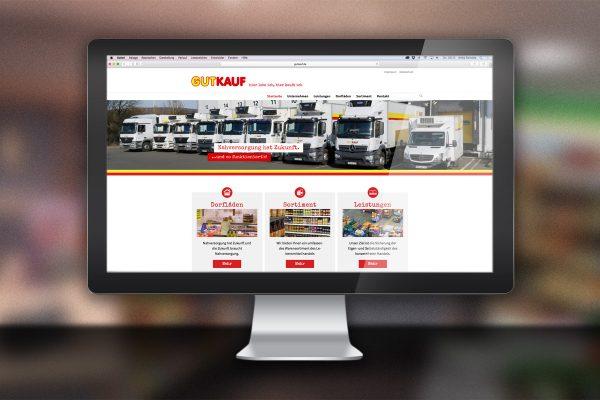 Desktop-Ansicht Website Gutkauf