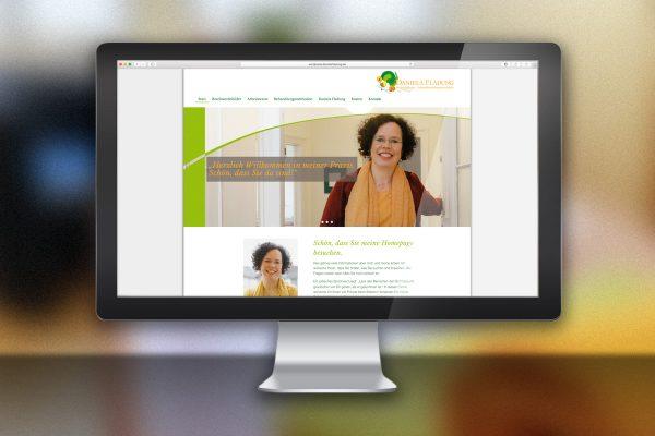 Desktop-Ansicht Website Daniela Fladung