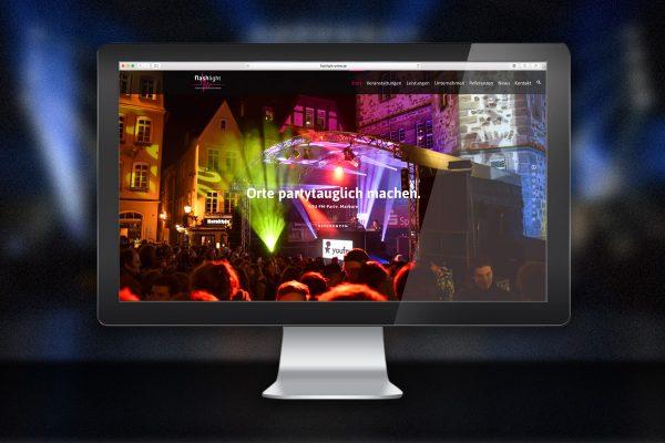 flashlight.events: Webdesign für erfolgreiche Auftritte.
