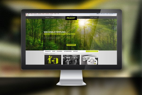 Desktop-Ansicht Website Pracht