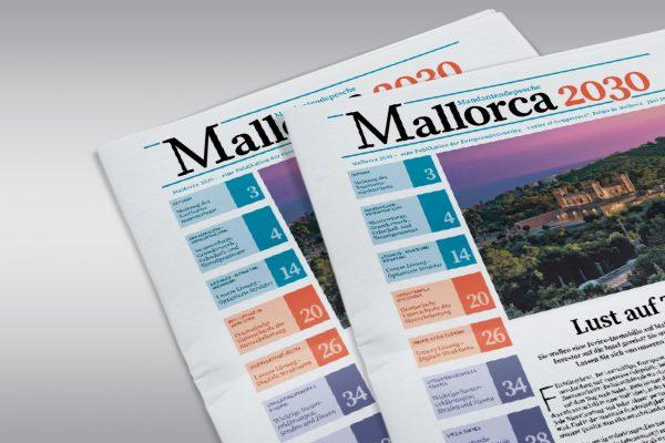 Digitales ePaper und Printlayout der Zeitung Mallorca 2030