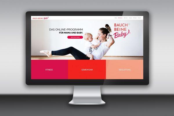Webdesign und Shop: Bauch Beine Baby