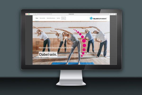 Landingpage zu UMPneurax von Neuraxpharm nach neuem Corporate Styleguide