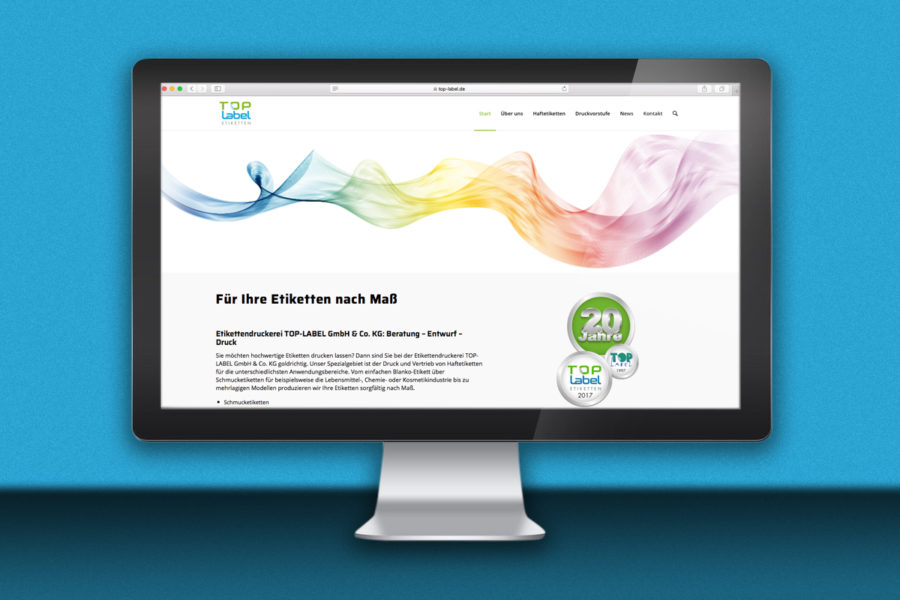 Webdesign Top-Label