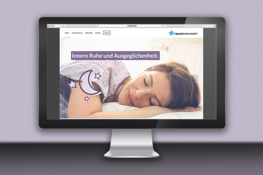 Webdesign für Seripnol von Neuraxpharm