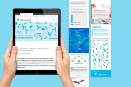 Mehrsprachiges Webdesign für die Darm-Hirn-Achse von Neuraxpharm