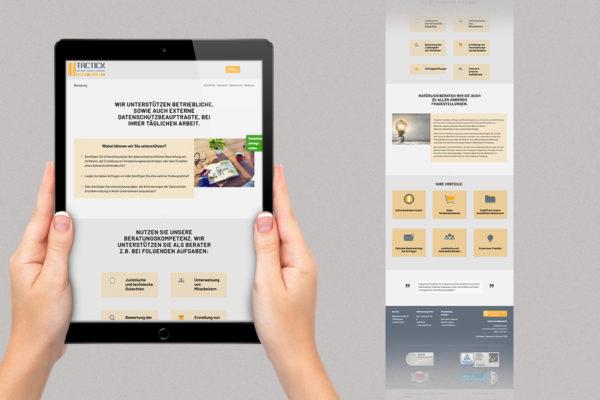 Webdesign und Relaunch für Tacticx.de