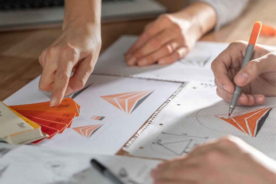 Designer-Logo vom Grafik Designer