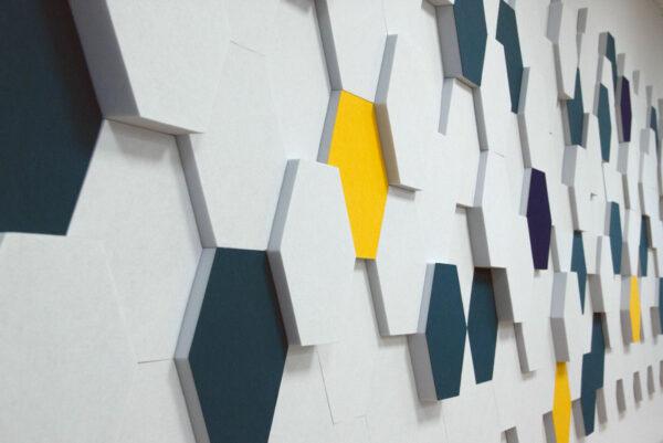 Wandgestaltung Akustikschaumstoff Bunt
