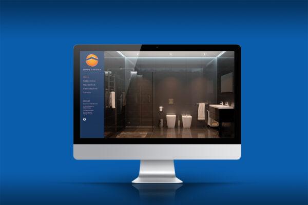 Oppermann Website auf einem iMac